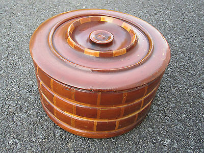 Vintage Retro Lg Bowl Box Container Redwood Forests California Specialty Co SF