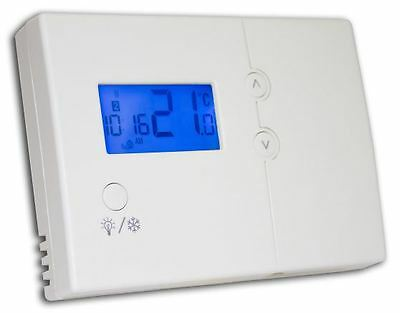 Central Heating Thermostat Boiler Programmable Room stat Hard Wired Tower HWPRS