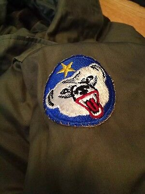 Vintage 40s WWII US Army Military Field Officer Alaska Defense Patch Overcoat.