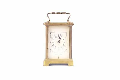 Vintage BAYARD PARIS French Brass Hand Wind Carriage Mantel Clock