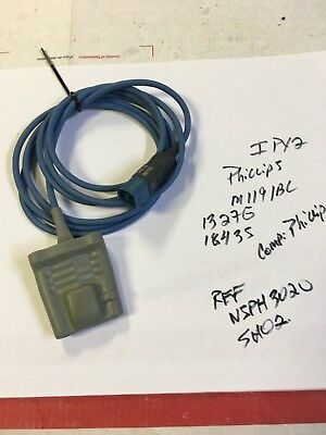 Philips M1191A SpO2 Adult Soft Finger Sensor Probe D Connect 8 Pin 6.5' Cable