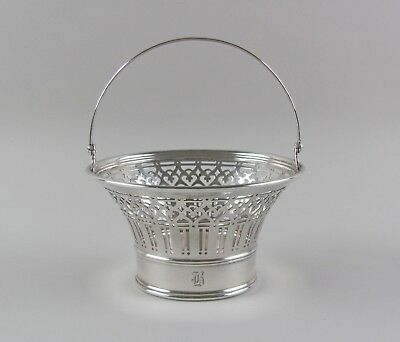 Tiffany & Co. Sterling Silver Basket with Handle 3.93ozt  Monogrammed