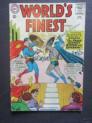 WORLD'S FINEST #143 gdvg DC Silver Age 1 book lot