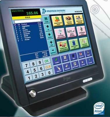 """15"""" fast epos till system Dual core Beauty Salon Hairdresser nail No monthly fee"""