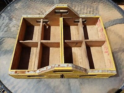 Vintage Yellow Dr Pepper Crate