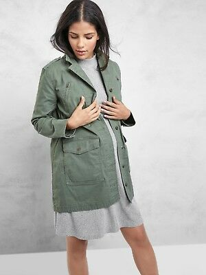 Gap Maternity Utility Military Jacket, Jungle Green SIZE L - Pre-Owned