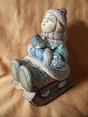 G DeBrekht Winter Wandering Russian Sleigh Ride Sled Figurine Limited Edition