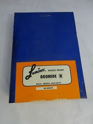 Vtg 70s LUMINOUS West Germany PHOTOGRAPHIC Smooth Semi-Matte PAPER Sealed Box