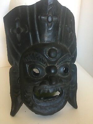 Vintage Hand Carved Wooden South East Asian Chinese Art Tribal Mask