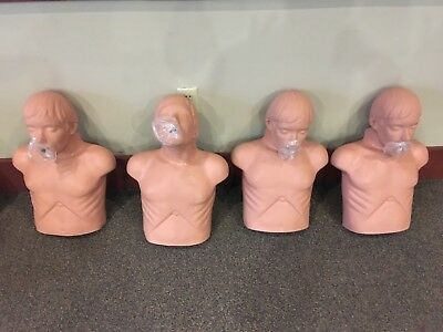 4 CPR Manikins simulaids with carrying Bag