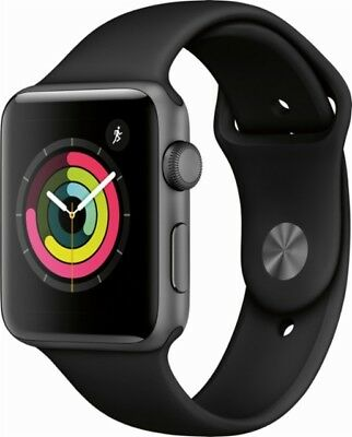 Apple Watch 42MM Space Gray Aluminum Case W/ Gray Sports Band/GPS + Cellular