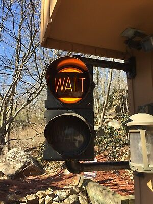 """Crouse Hinds traffic signal, Kopp 8 3/8"""" glass 'walk / wait', with sequencer"""