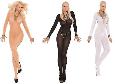 Black or Nude Beige Bodystocking size 6-10