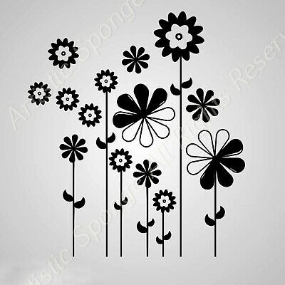 Flower /& Butterfly Reusable Stencil A3 A4 A5 Romantic Shabby Chic Flora F4
