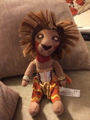 """SIMBA Soft Plush Toy THE LION KING THE BROADWAY MUSICAL 10"""" Tagged"""
