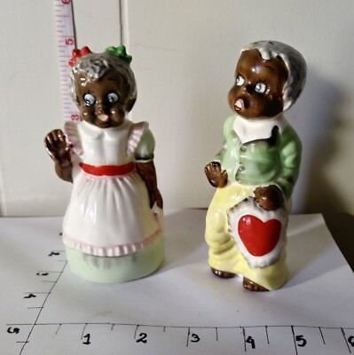 black americana salt and pepper shakers Adorable Couple