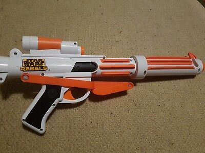 NERF STAR WARS REBELS STORMTROOPER BLASTER GUN with ammo rare