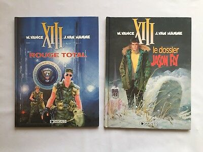 Xiii Rouge Total 5 & Le Dossier Jason Fly 6 / Lot Bd 1991 / Vance & Van Hamme