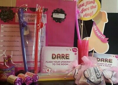 Hen Party Pink Gift Bags Filled With 12 Items Including Survival Kit