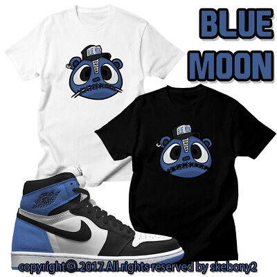 "best service 45648 8e026 CUSTOM T SHIRT Air Jordan 1 Retro High OG ""Blue Moon"