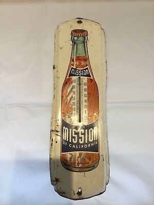 MISSION Orange King Size Of California Metal Advertising Thermometer