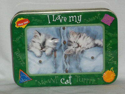 "Kittens Blank Notecards & Envelopes Set of 12 With ""I Love My Cat"" Tin Container"
