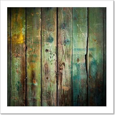 Old Wood Background Art Print Home Decor Wall Art Poster - C