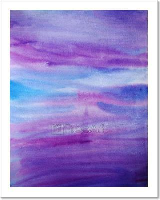 Watercolor Hand Painted Dramatic Art Print Home Decor Wall Art Poster - C