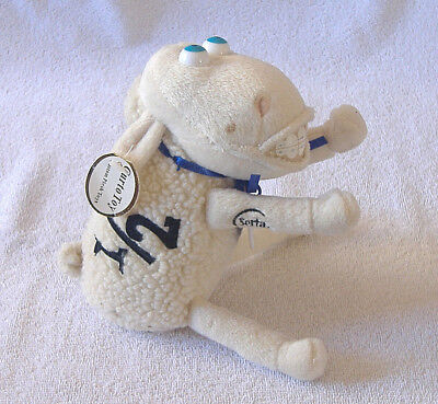 {SERTA COUNTING SHEEP #1/2} Collectible TAGS Mattress CURTO PLUSH TOY *Blue Eyes