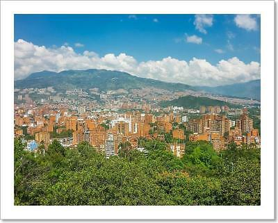 Aerial View Of Medellin From Nutibara Art Print Home Decor Wall Art Poster - C