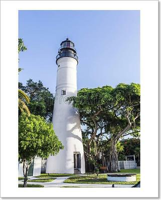 The Key West Lighthouse,  Florida, Usa  Art Print Home Decor Wall Art