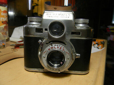 Bolsey Model C RARE Twin lens Reflex camera with case