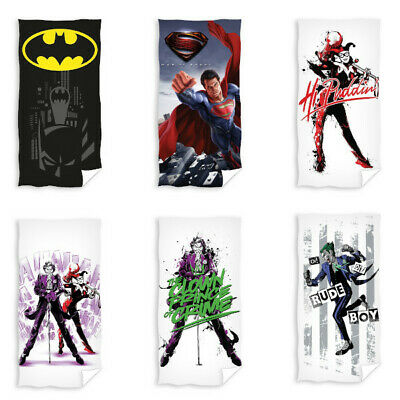 Batman Superman Justice League Bath Towel Beach Towel 70 x 140 cm