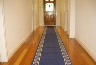 Hallway Runner Hall Runner Rug Modern Blue 10 Metres Long We Can Cut To Size 368