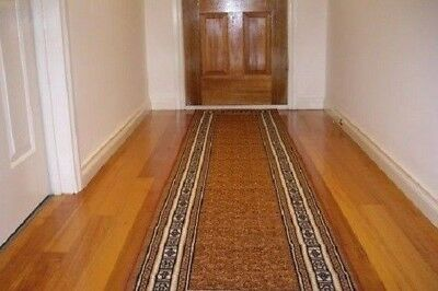 Hallway Runner Hall Runner Rug Modern Brown 10  Metres Long  Can Cut To Any Size
