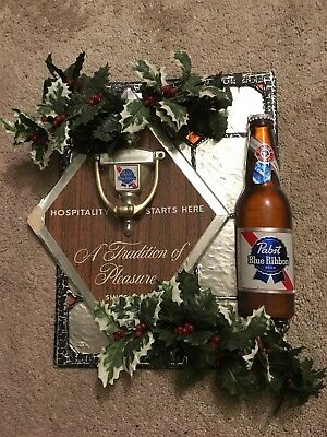 Pabst Holiday Sign