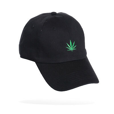 Weed Leaf Marijuana Plant Dad Hat Adjustable Strap Back Embroidered Curved  Bill e4a663a51fb