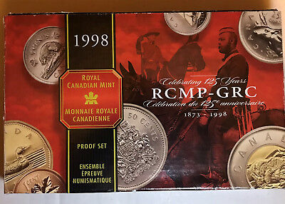 1998 Royal Canadian Mint Proof Coin Set RCMP Mounted Police 125th Anniversary