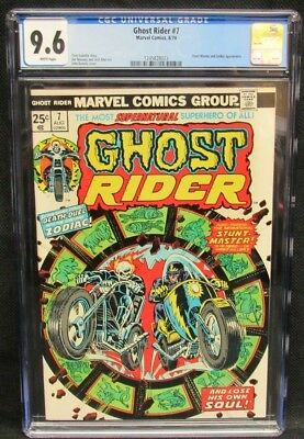 Ghost Rider #7 (1974) Zodiac App. CGC 9.6 White Pages CV512