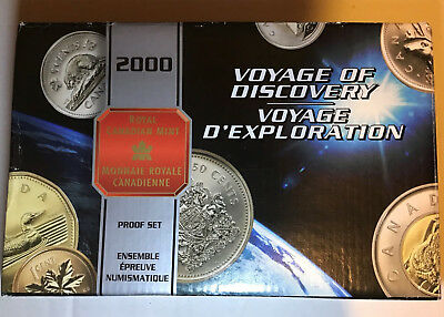 2000 Royal Canadian Mint Canada Voyage of Discovery Proof Set Silver Dollar