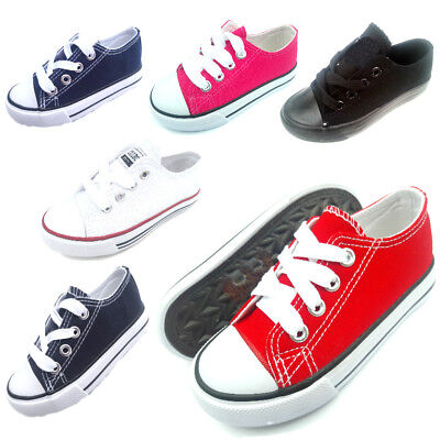 Toddler kids boys girls low top sneaker tennis canvas shoes