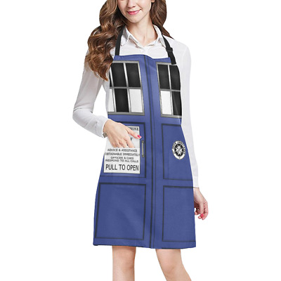Tardis Doctor Who Kitchen Apron with Pockets Fully Adjustable Working Clothing