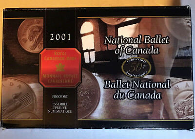 2001 Canadian Royal Mint Proof Set National Ballet Silver Coins