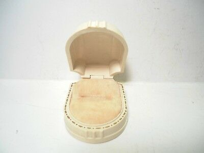 W&S Antique Vintage Celluloid RING BOX CASE Art Deco Flapper New York USA W S NY