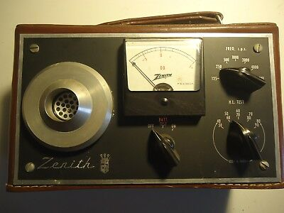 Vintage Zenith Hearing Aid Portable Audiometer