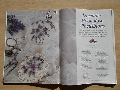 Embroidery & Cross Stitch Vol 10 #7~Moon Rose~Fuchsias~Snowflake~Circle of Life