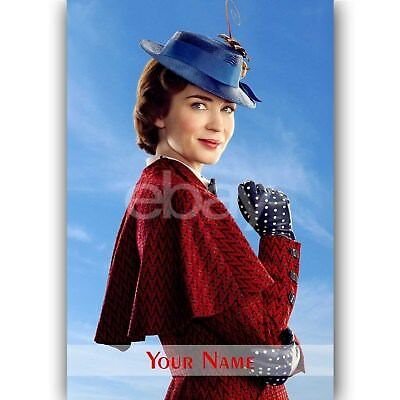 Mary Poppins Returns Movie 2018 Emily Blunt Silk Canvas Poster 12x21 24x43 inch