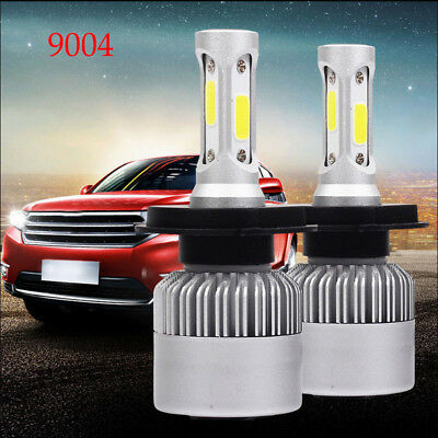 2xS2 9004 72W 16000LM Car LED Headlight Conversion Bulbs COB 6000K Super Bright