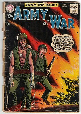 Our Army At War # 100 ~ November, 1960 ~ Poor to Fair ~ rough, but complete