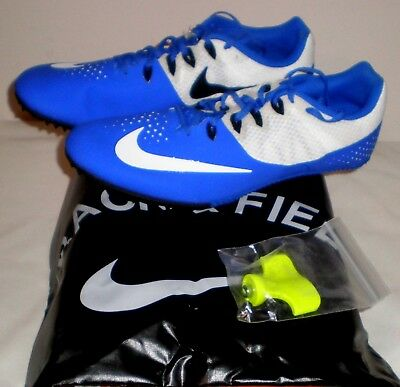 wholesale dealer 524b9 169e3 Nike ZOOM RIVAL S8 Track Running Sprint Shoes ROYAL BLUE WHITE Spikes Mens  11